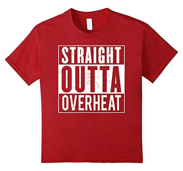 Straight Outta OVERHEAT for oeverclockers T-shirt Cranberry / 3XL T-Shirt BelDisegno