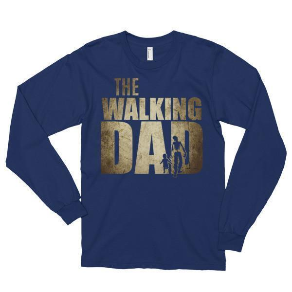 The Walking Dad T-shirt Navy / 2XL T-Shirt BelDisegno