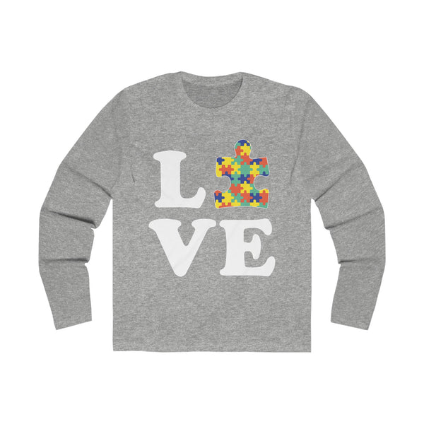 Love Autism Autism Awareness T-shirt Solid Heather Grey / 2XL T-Shirt BelDisegno