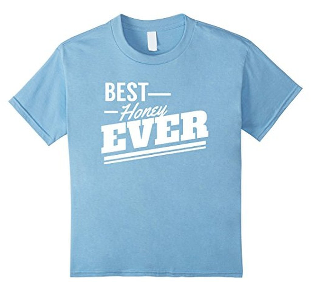 Valentine Gifts for Him & Her Best Honey Ever sweet T-shirt Baby Blue / 3XL T-Shirt BelDisegno