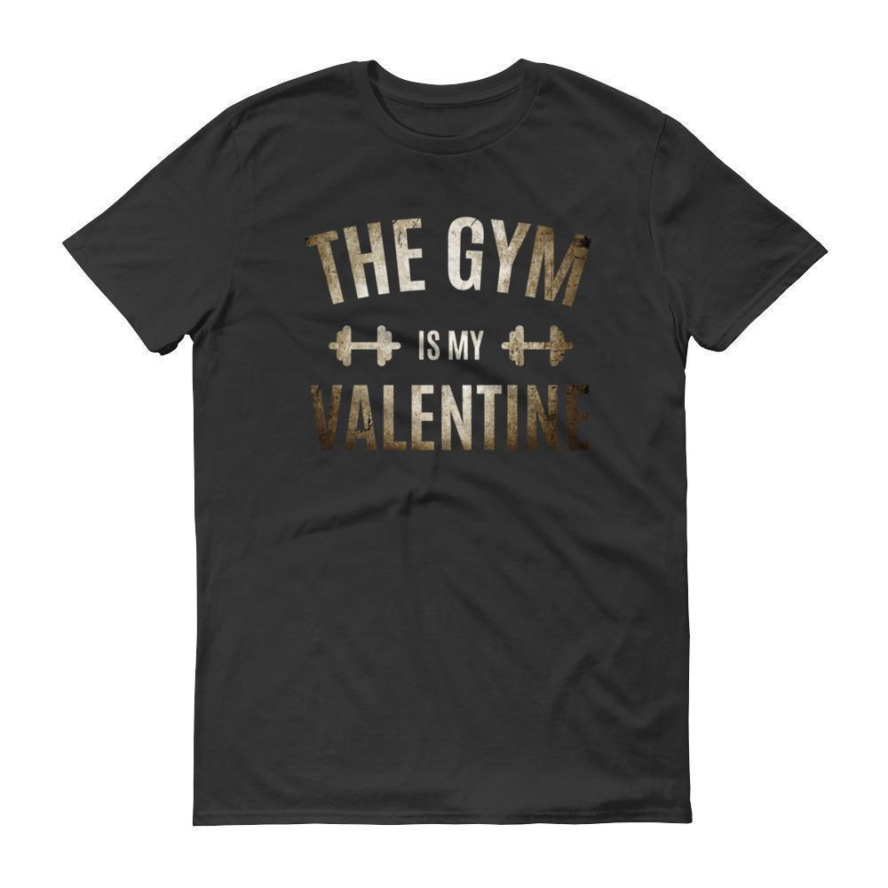 Valentines Day Gifts The Gym is my Valentine T-shirt Black / 3XL / Men T-Shirt BelDisegno