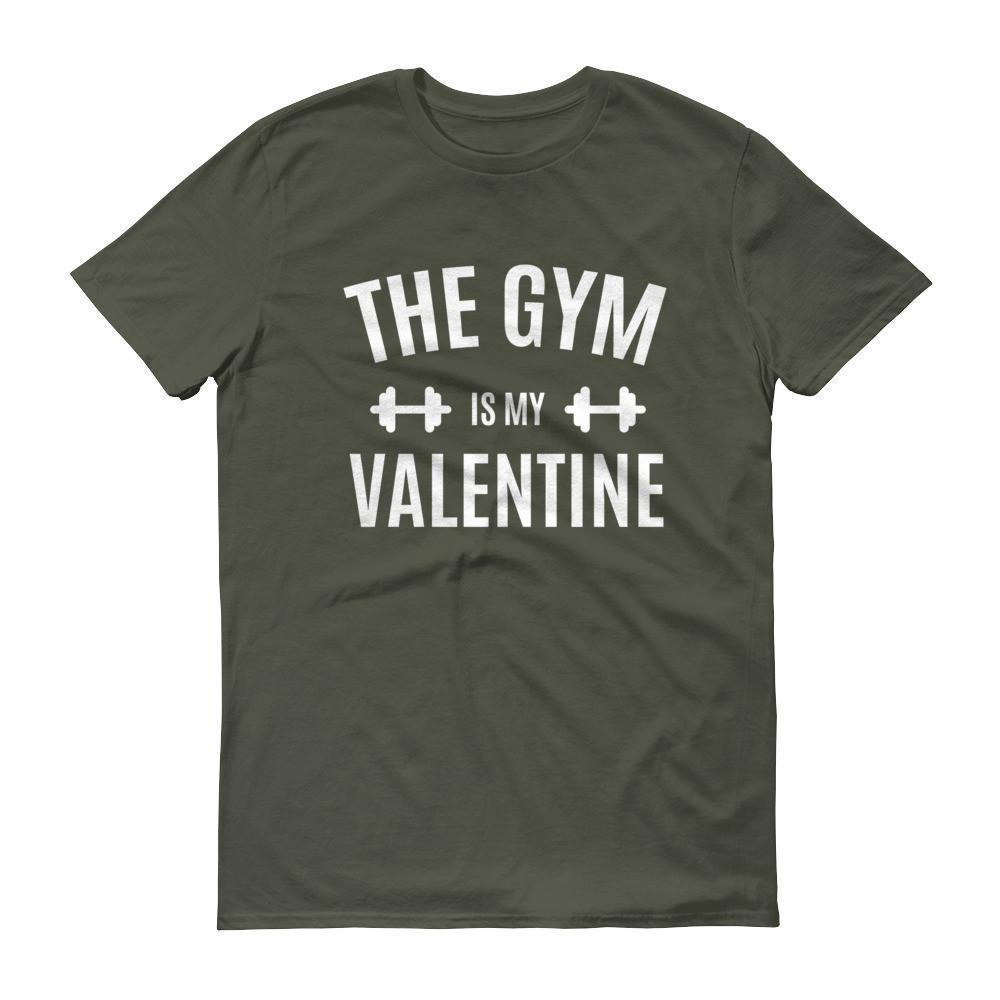 Valentines Day Gifts The Gym is my Valentine T-shirt City Green / 3XL / Men T-Shirt BelDisegno