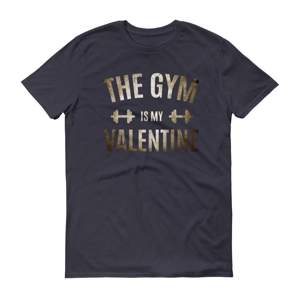 Valentines Day Gifts The Gym is my Valentine T-shirt Navy / 3XL / Men T-Shirt BelDisegno
