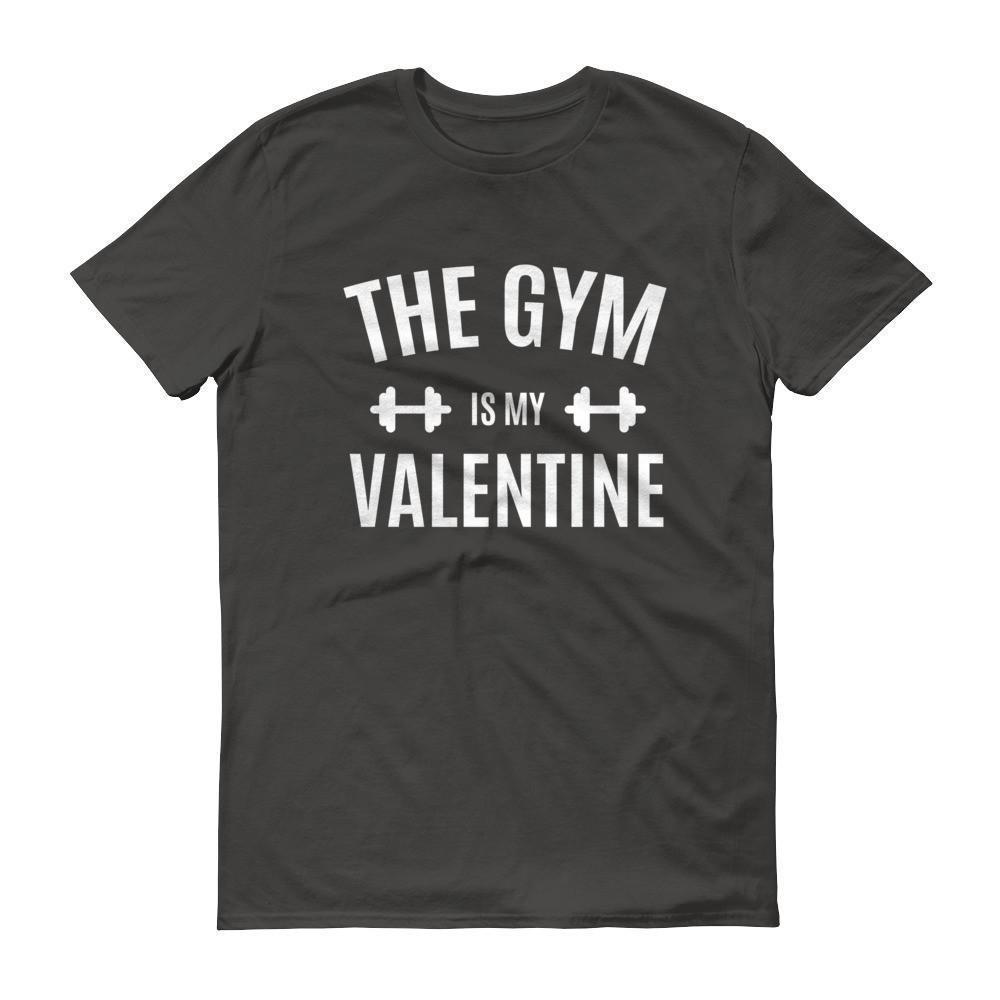 Valentines Day Gifts The Gym is my Valentine T-shirt Smoke / 3XL / Men T-Shirt BelDisegno