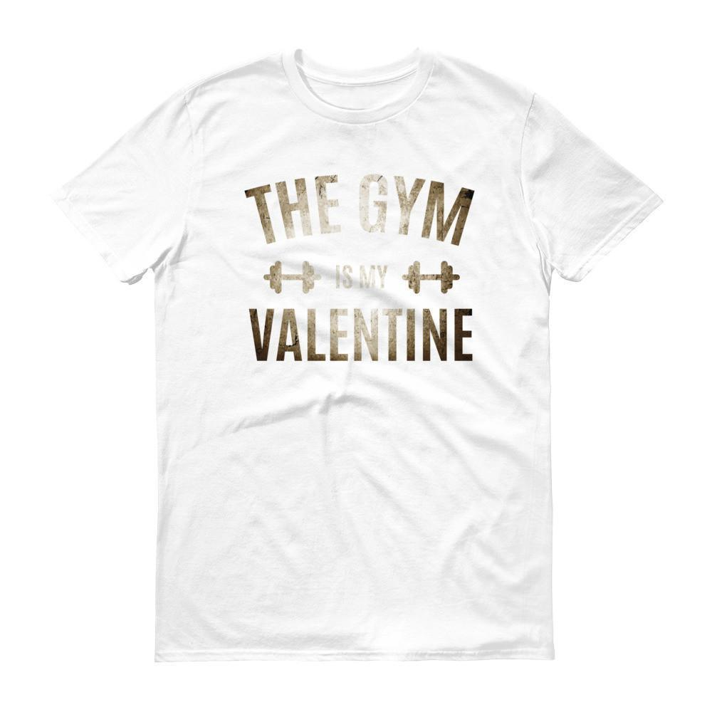 Valentines Day Gifts The Gym is my Valentine T-shirt White / 3XL / Men T-Shirt BelDisegno