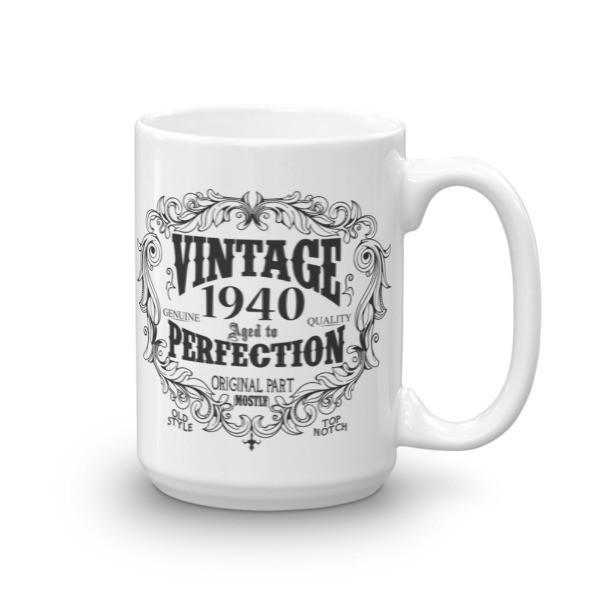 80 years old Coffee Mug - born in 1940 Size: 15ozColor: White