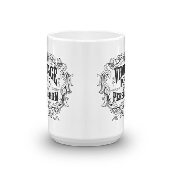 Born in 1955 65 years old Coffee Mug Size: 11oz, 15ozColor: White, Black