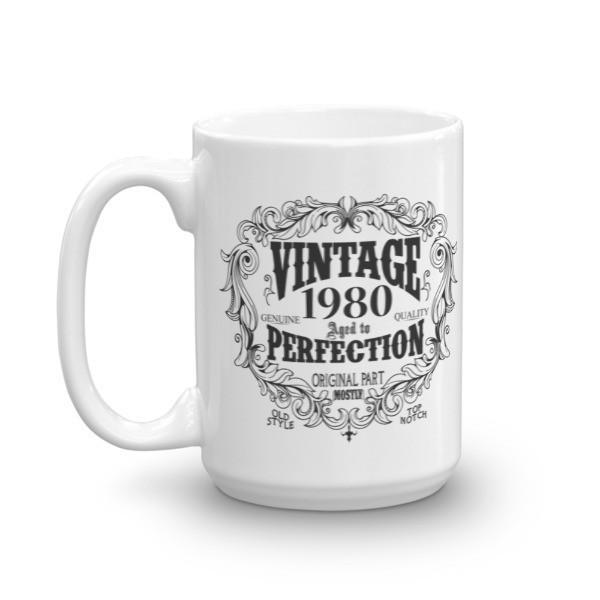Born in 1980 40 years old Coffee Mug Size: 11oz, 15ozColor: White, Black