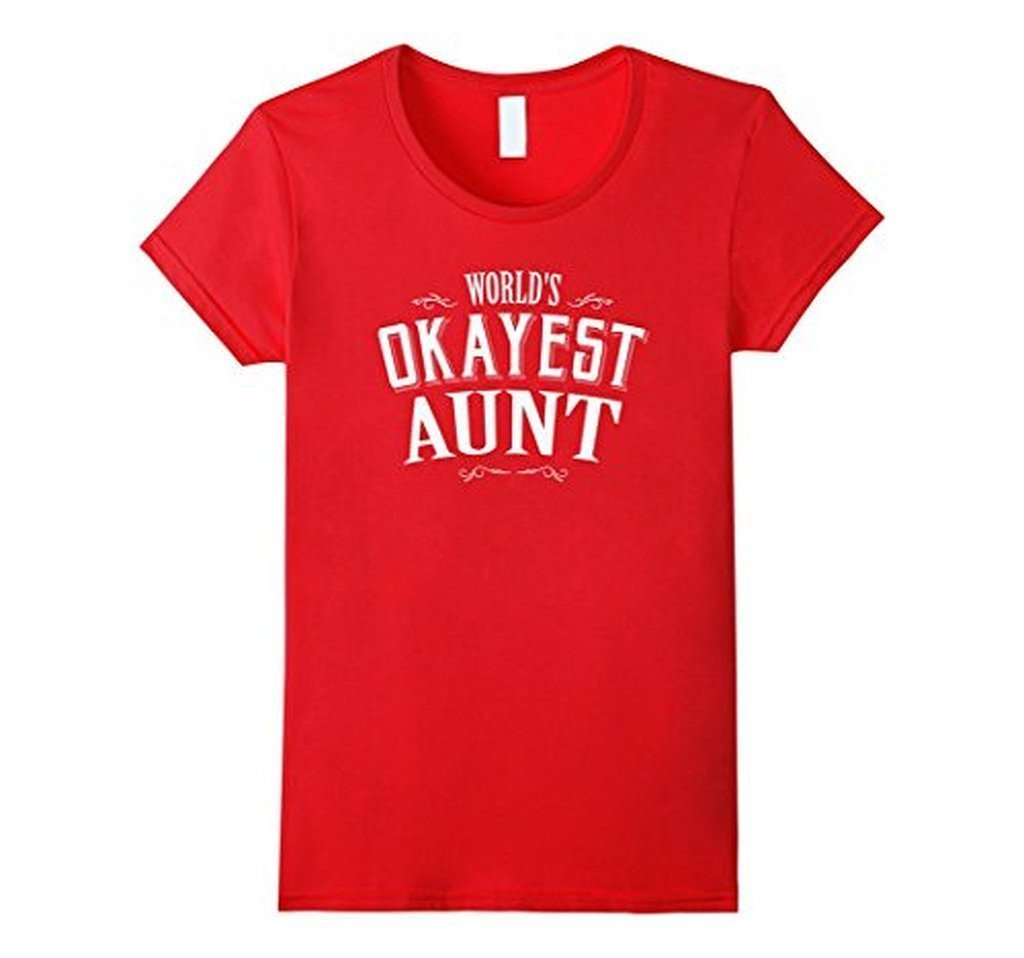 World's Okayest Aunt Gift for Aunt T-shirt Red / XL T-Shirt BelDisegno