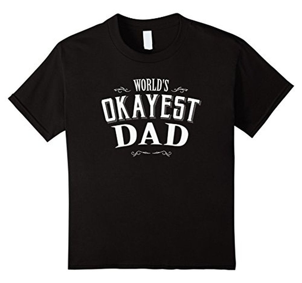 Vintage World's Okayest Dad T Cool Funny Father's Day TShirt-T-Shirt-BelDisegno-Black-S-BelDisegno