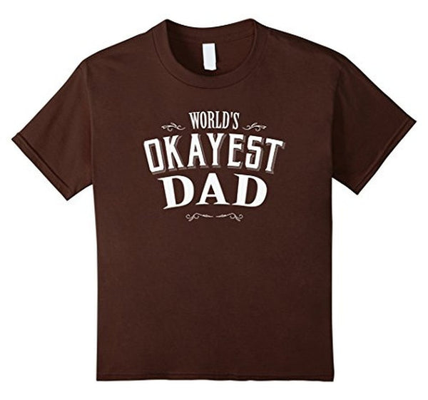 Vintage World's Okayest Dad T Cool Funny Father's Day TShirt-T-Shirt-BelDisegno-Brown-S-BelDisegno