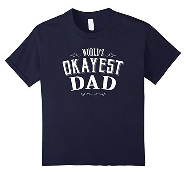 Vintage World's Okayest Dad T Cool Funny Father's Day TShirt-T-Shirt-BelDisegno-Navy-S-BelDisegno
