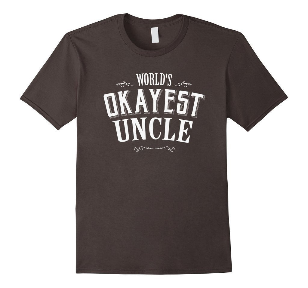 Vintage World's Okayest Uncle Gift for Uncle TShirt-T-Shirt-BelDisegno-Asphalt-S-BelDisegno