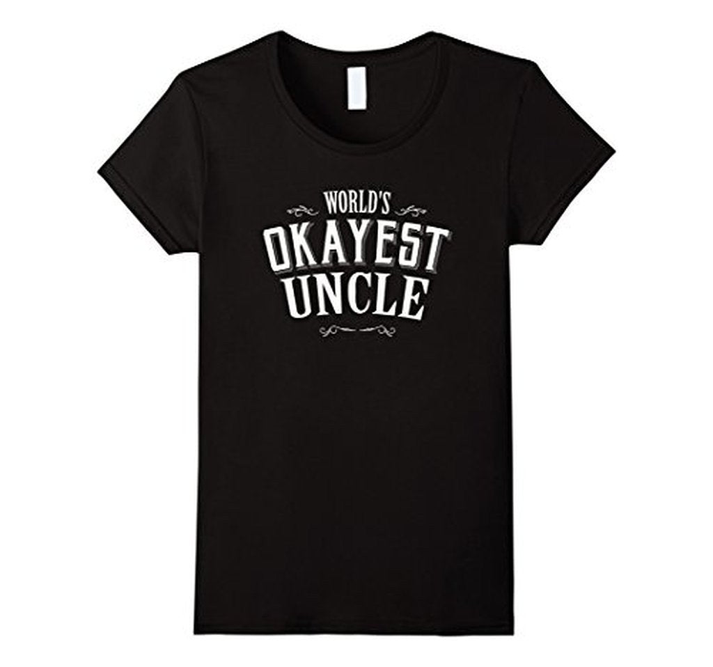 Vintage World's Okayest Uncle Gift for Uncle TShirt-T-Shirt-BelDisegno-Black-S-BelDisegno