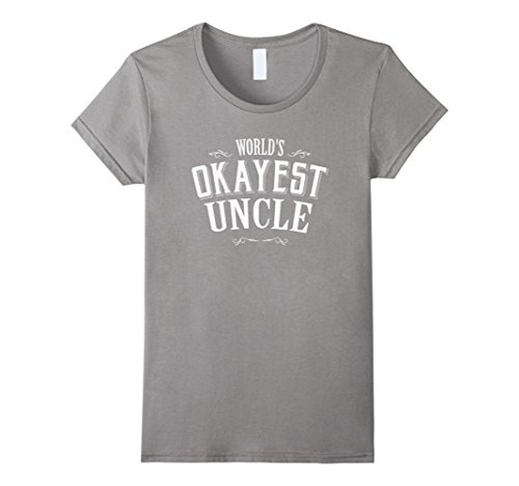 Vintage World's Okayest Uncle Gift for Uncle TShirt-T-Shirt-BelDisegno-Heather Grey-S-BelDisegno