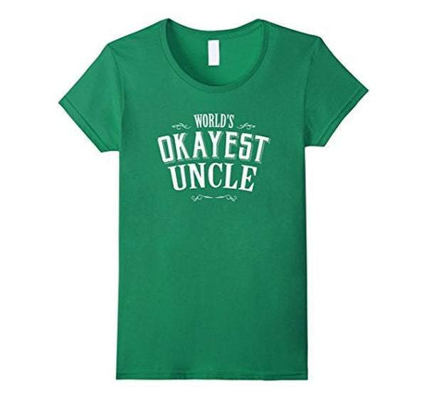 Vintage World's Okayest Uncle Gift for Uncle TShirt-T-Shirt-BelDisegno-Kelly Green-S-BelDisegno