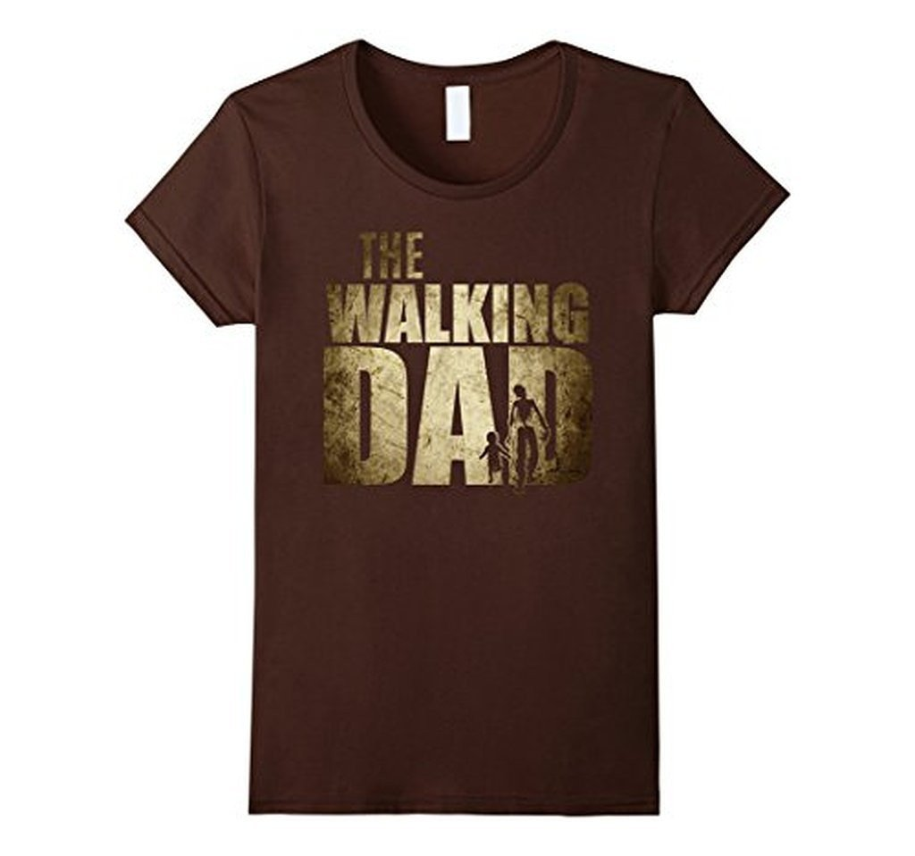 Walking Dad Funny Shower Gift Father's Day T-shirt Brown / 3XL / Men T-Shirt BelDisegno
