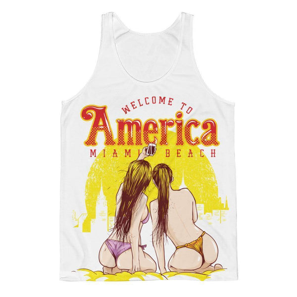 Welcome to America Sublimation Tank-Sublimation Tank-BelDisegno-XS-White-Men-BelDisegno
