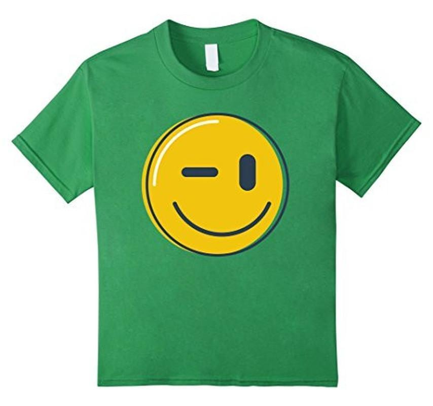 Wink Face Smile Emoji T-shirt Grass / 3XL T-Shirt BelDisegno