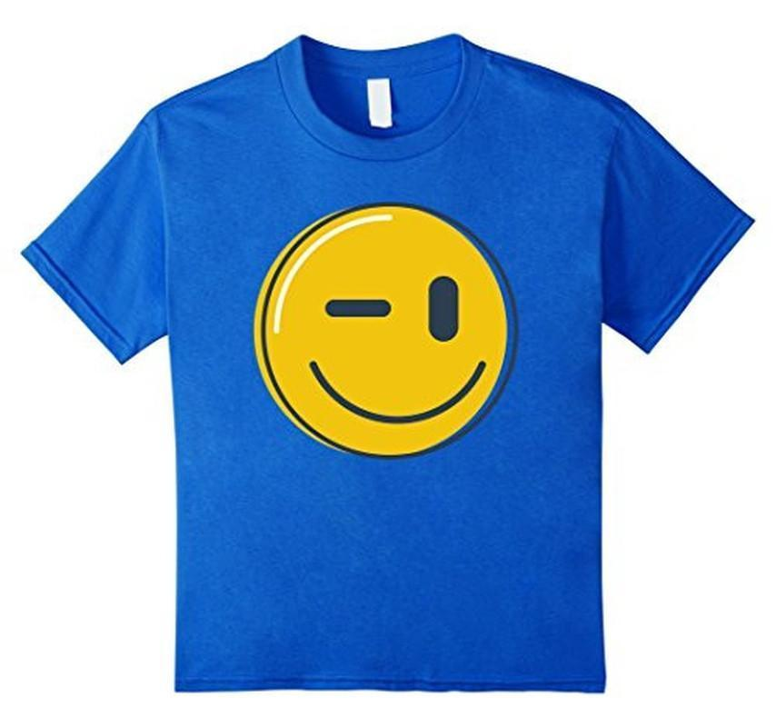 Wink Face Smile Emoji T-shirt Royal Blue / 3XL T-Shirt BelDisegno