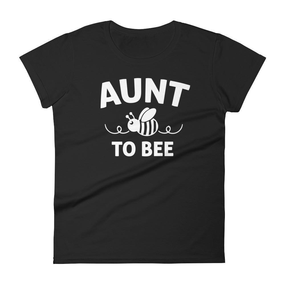 Aunt to bee tshirt gifts for first time Aunt Color: BlackSize: S