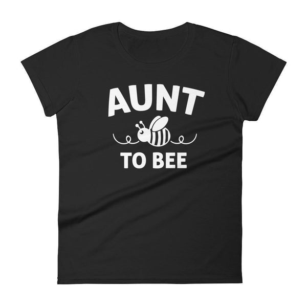 Women's Aunt to bee tshirt gifts for first time Aunt-T-Shirt-BelDisegno-Black-S-BelDisegno
