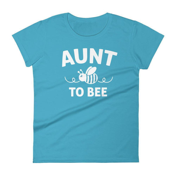 Women's Aunt to bee tshirt gifts for first time Aunt-T-Shirt-BelDisegno-Caribbean Blue-S-BelDisegno