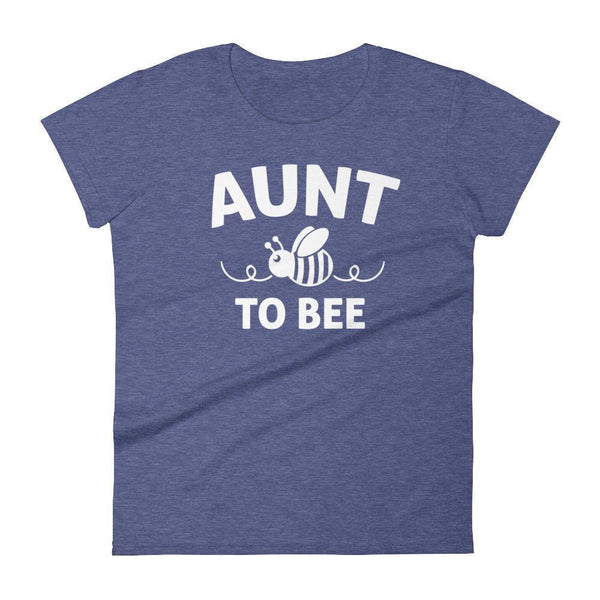 Women's Aunt to bee tshirt gifts for first time Aunt-T-Shirt-BelDisegno-Heather Blue-S-BelDisegno