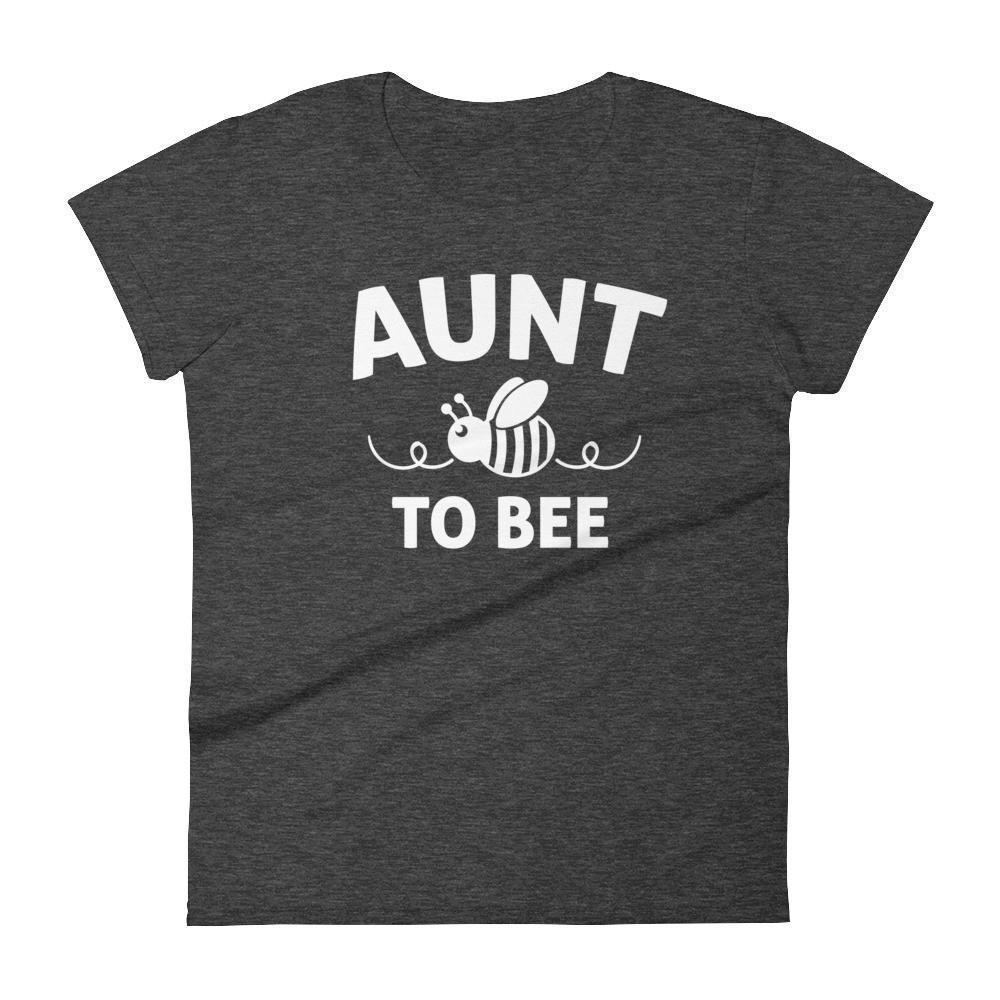 Women's Aunt to bee tshirt gifts for first time Aunt-T-Shirt-BelDisegno-Heather Dark Grey-S-BelDisegno