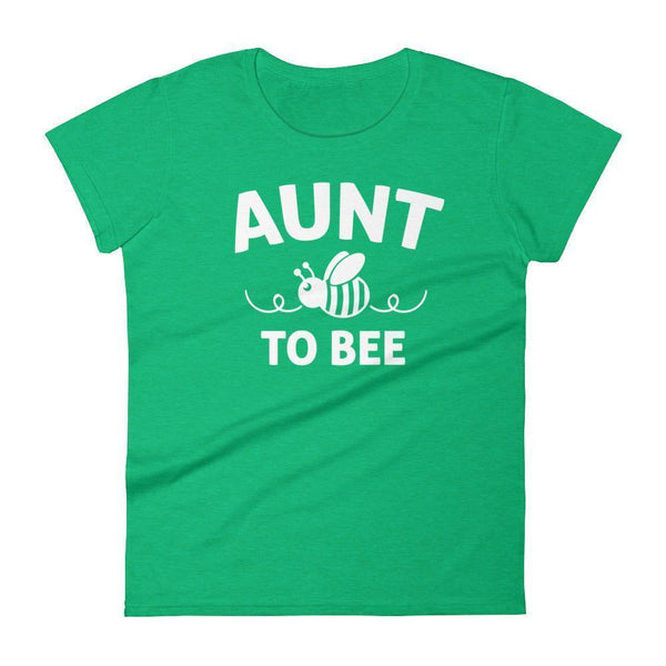 Women's Aunt to bee tshirt gifts for first time Aunt-T-Shirt-BelDisegno-Heather Green-S-BelDisegno