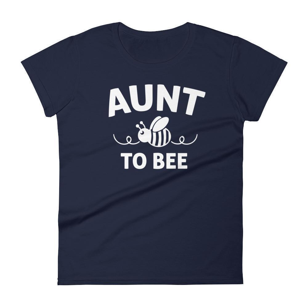 Women's Aunt to bee tshirt gifts for first time Aunt-T-Shirt-BelDisegno-Navy-S-BelDisegno