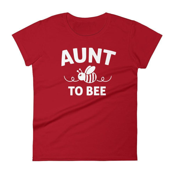 Women's Aunt to bee tshirt gifts for first time Aunt-T-Shirt-BelDisegno-Red-S-BelDisegno