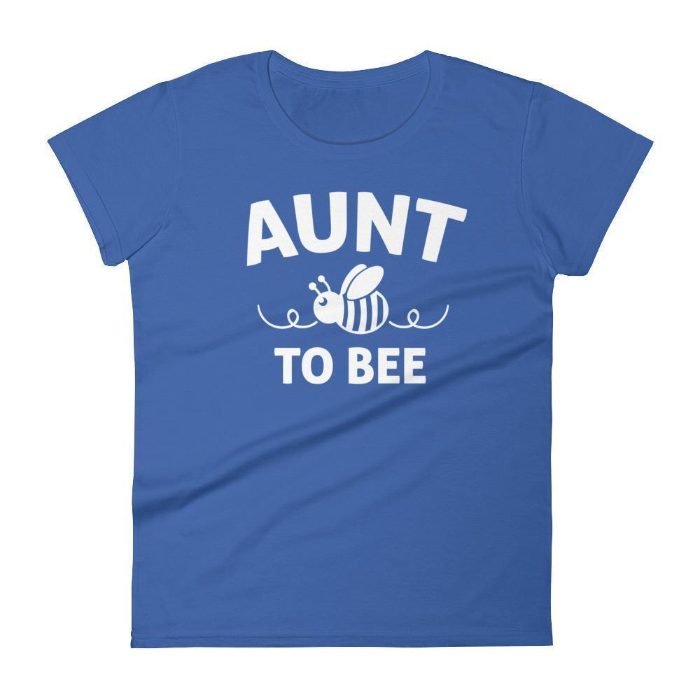 Aunt to bee tshirt gifts for first time Aunt Color: Royal BlueSize: S