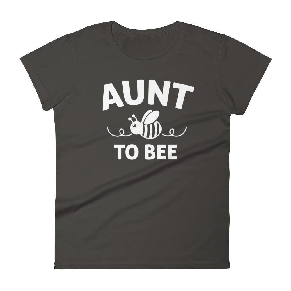 Women's Aunt to bee tshirt gifts for first time Aunt-T-Shirt-BelDisegno-Smoke-S-BelDisegno