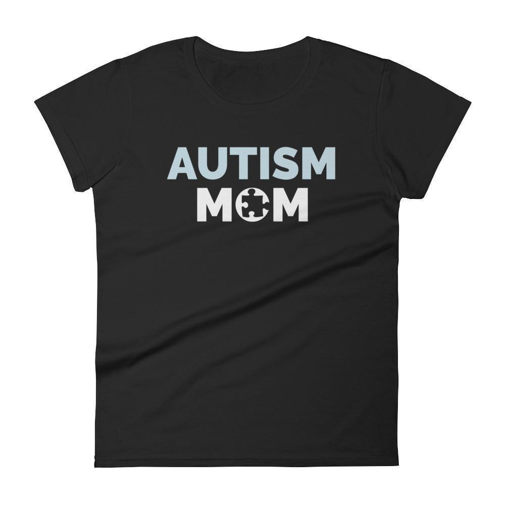 Autism Mom Autism Awareness Day 2017 T-shirt Color: BlackSize: SFit Type: Women