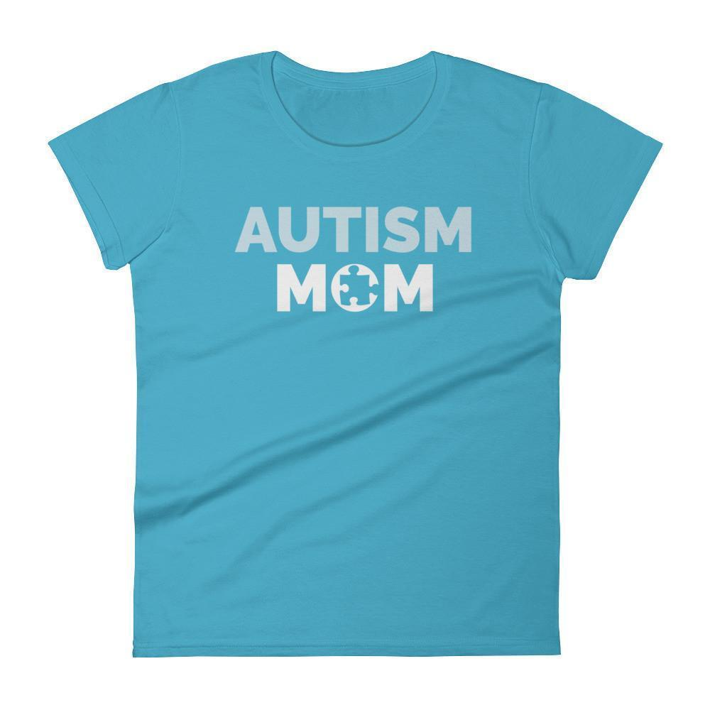 Autism Mom Autism Awareness Day 2017 T-shirt Color: Caribbean BlueSize: SFit Type: Women