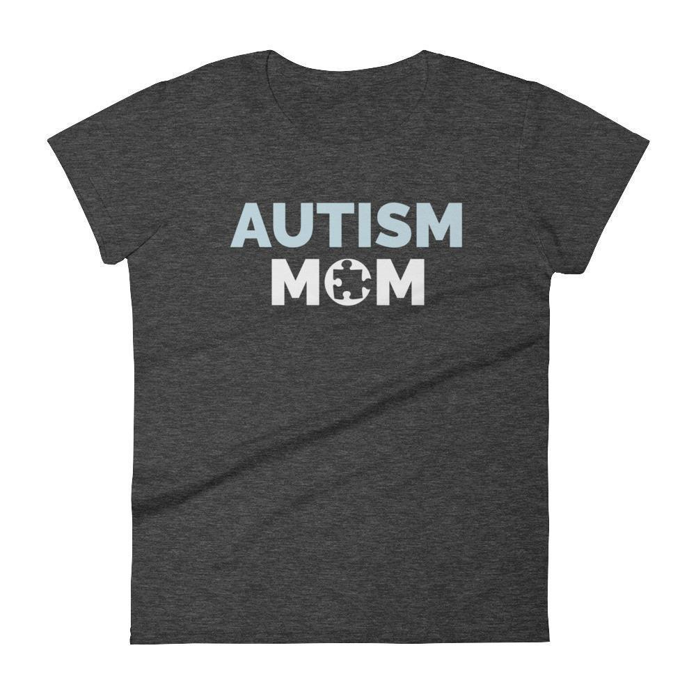 Autism Mom Autism Awareness Day 2017 T-shirt Color: Heather Dark GreySize: SFit Type: Women