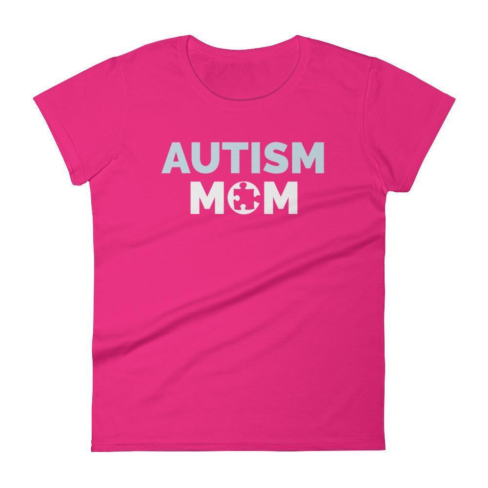 Autism Mom Autism Awareness Day 2017 T-shirt Color: Hot PinkSize: SFit Type: Women