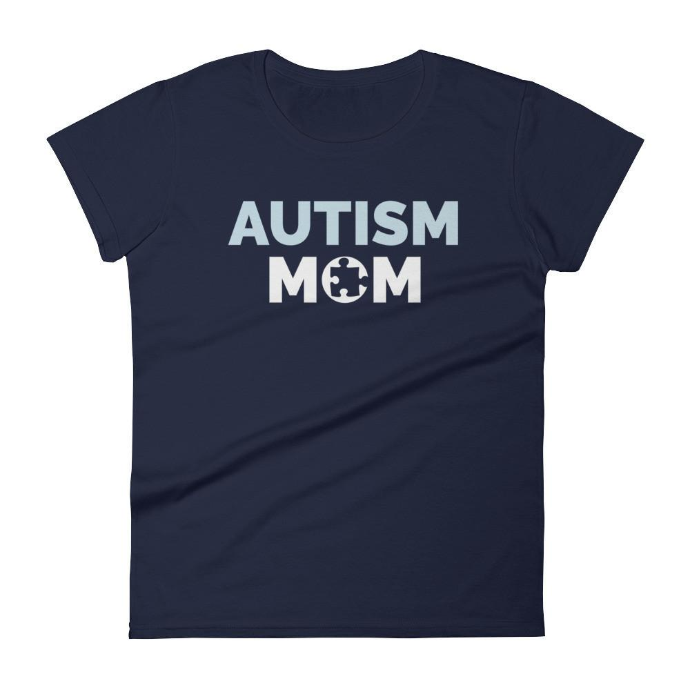 Autism Mom Autism Awareness Day 2017 T-shirt Color: NavySize: SFit Type: Women