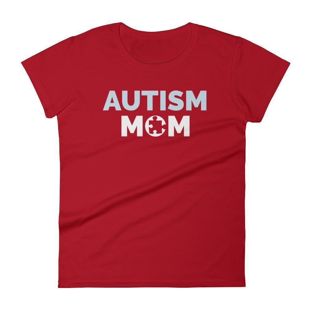 Autism Mom Autism Awareness Day 2017 T-shirt Color: RedSize: SFit Type: Women