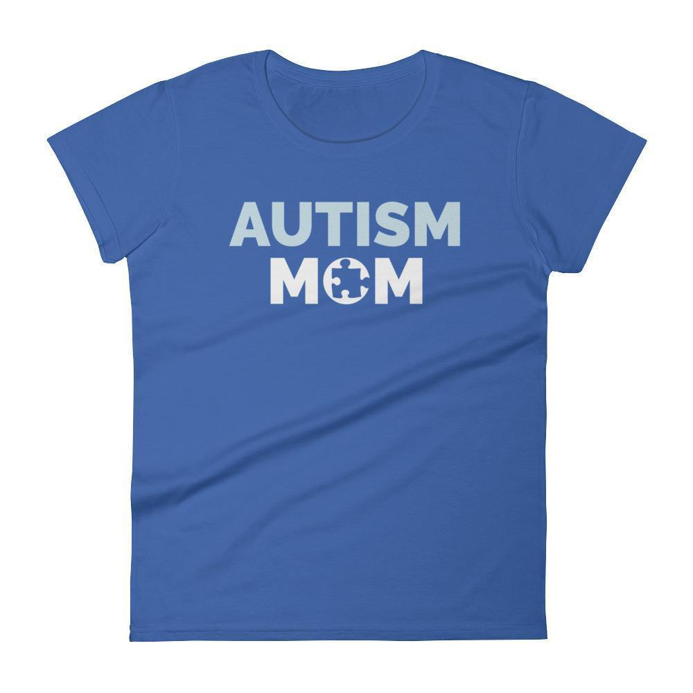 Autism Mom Autism Awareness Day 2017 T-shirt Color: Royal BlueSize: SFit Type: Women