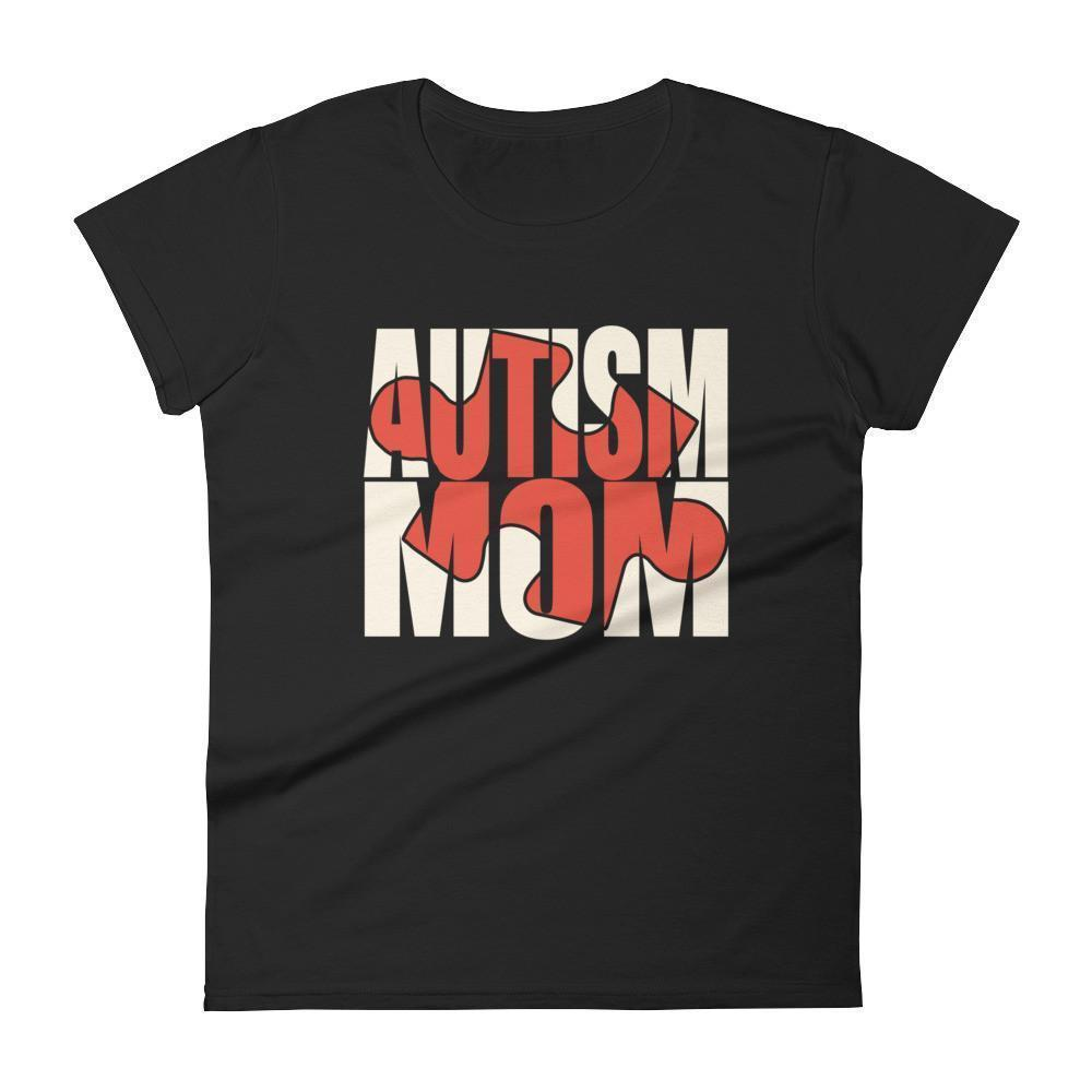Women's Autism Mom Autism Awareness Day gift for mother of autistic Child TShirt-T-Shirt-BelDisegno-Black-S-Women-BelDisegno