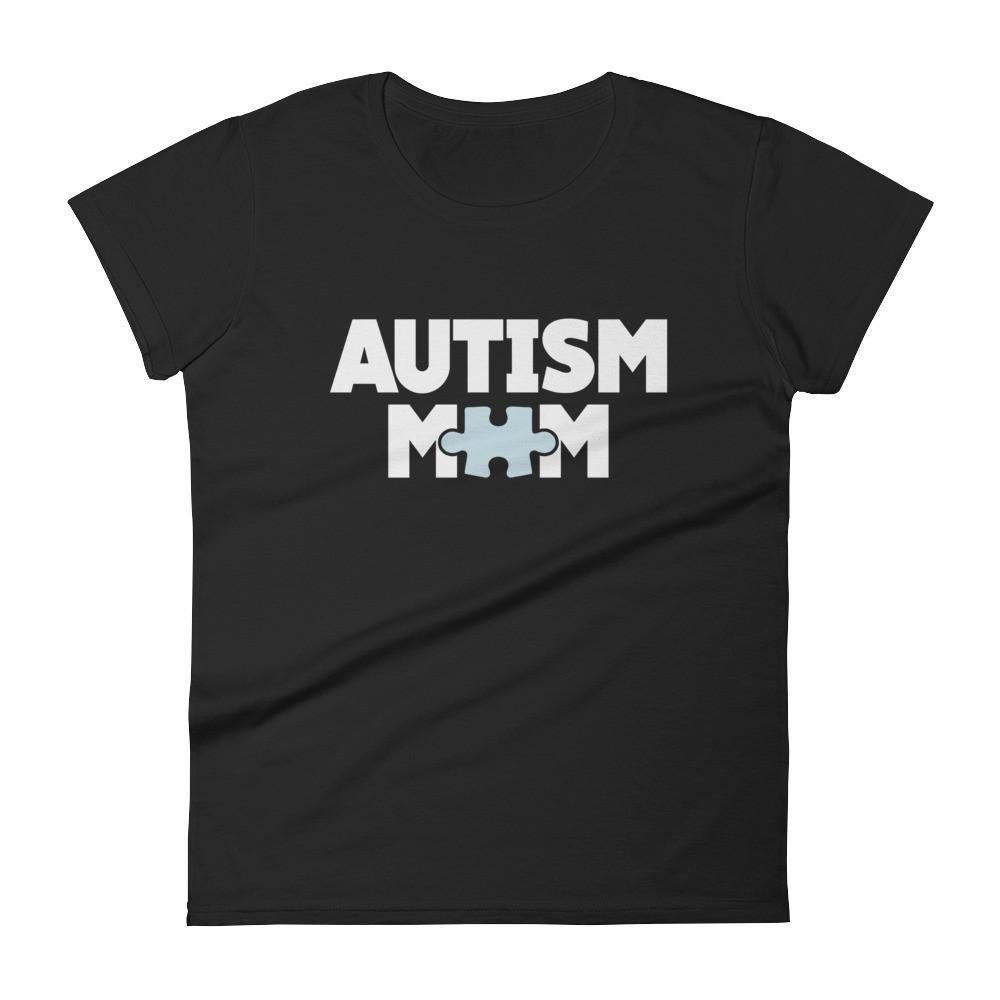 Women's Autism Mom Autism Awareness TShirt-T-Shirt-BelDisegno-Black-S-Women-BelDisegno