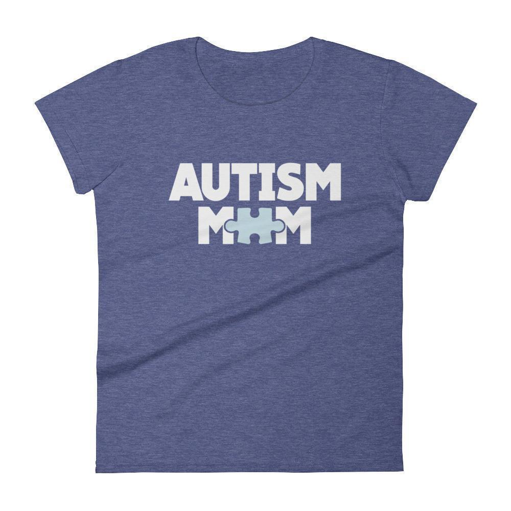 Women's Autism Mom Autism Awareness TShirt-T-Shirt-BelDisegno-Heather Blue-S-Women-BelDisegno