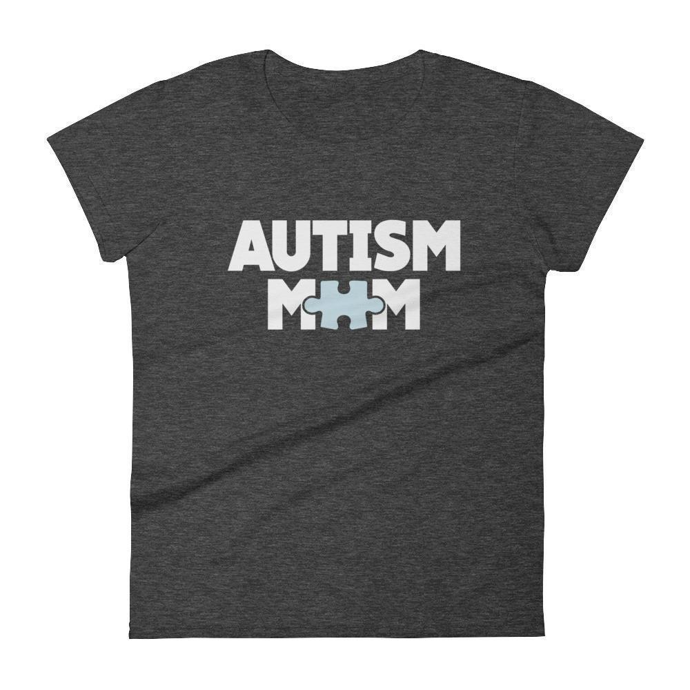 Women's Autism Mom Autism Awareness TShirt-T-Shirt-BelDisegno-Heather Dark Grey-S-Women-BelDisegno