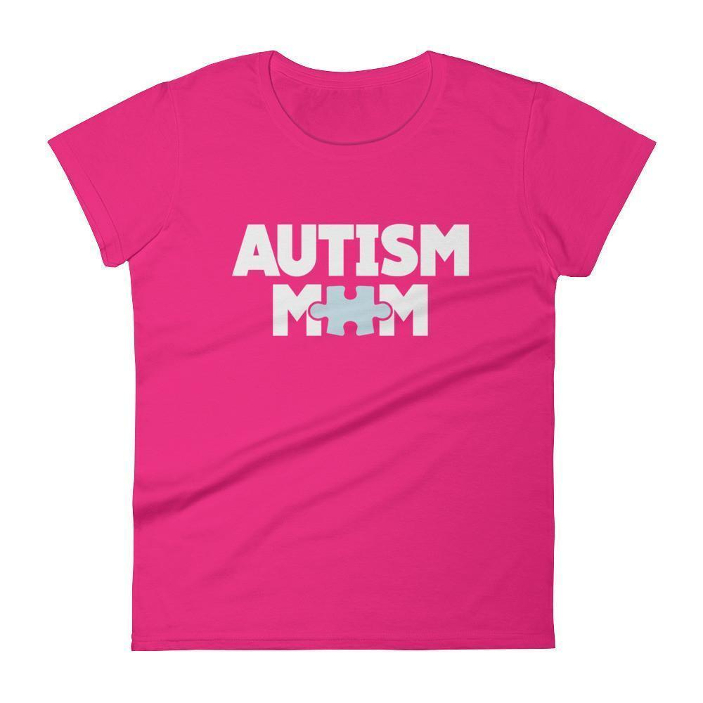 Women's Autism Mom Autism Awareness TShirt-T-Shirt-BelDisegno-Hot Pink-S-Women-BelDisegno