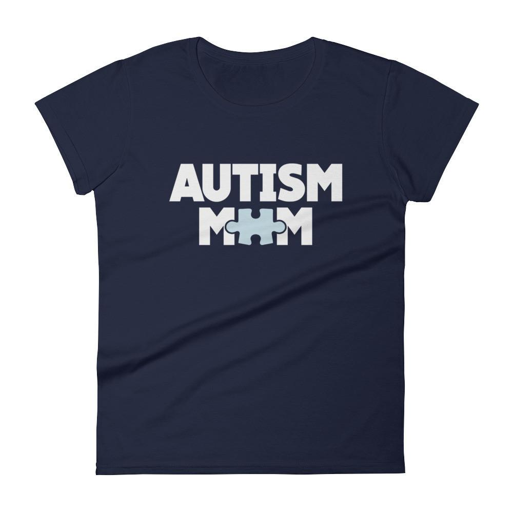 Women's Autism Mom Autism Awareness TShirt-T-Shirt-BelDisegno-Navy-S-Women-BelDisegno