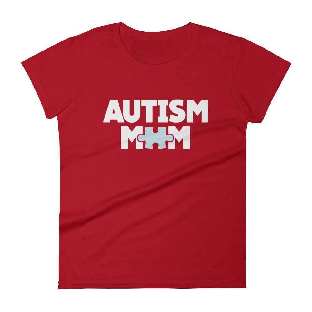 Women's Autism Mom Autism Awareness TShirt-T-Shirt-BelDisegno-Red-S-Women-BelDisegno