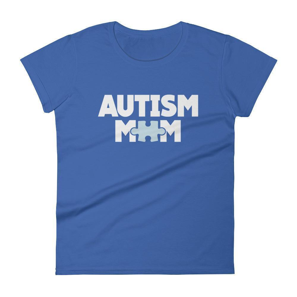 Women's Autism Mom Autism Awareness TShirt-T-Shirt-BelDisegno-Royal Blue-S-Women-BelDisegno