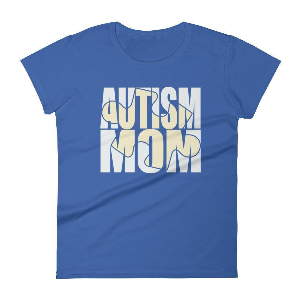Women's Autism Mom New Autism Awareness Gift for mother of autistic Child TShirt-T-Shirt-BelDisegno-Royal Blue-S-Women-BelDisegno